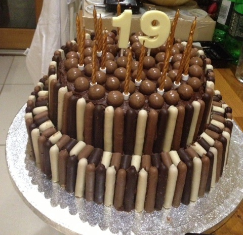 Tiered Chocolate Birthday Cake